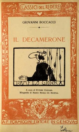 Giovanni Boccaccio, Decamerone, a cura di Ettore Cozzani, Prov. Archivio degli scrittori e delle culture regionali dell'Università di Trieste.