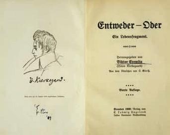 Søren Kierkegaard, Entweder-Oder. 1909. Prov. Archivio degli scrittori e delle culture regionali dell'Università di Trieste.